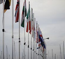 Flags Along the Warf by Peter Vincent