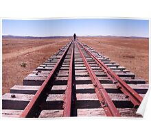 On Black Rock Narrow Gauge Rail Bridge, Outback South Australia Poster