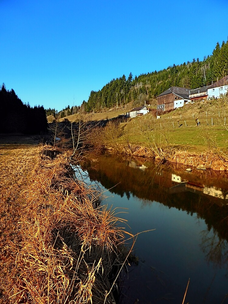 A river, the valley and traditional farmland | waterscape photography by Patrick Jobst