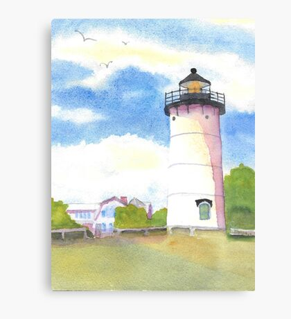 Marthas Vineyard Lighthouse  Canvas Print