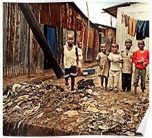 Kids in the slums of Mathare Poster