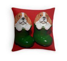 Pair of Cavalier Wellies Throw Pillow