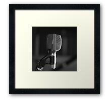 Microphone Framed Print