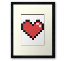Pixel Heart! Framed Print