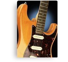 Fender Stratocaster Electric Guitar Natural Canvas Print