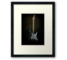Fender Stratocaster Full Texture Framed Print
