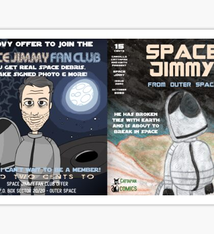 Space Jimmy Significant Mother music video - Comic Book scene Sticker