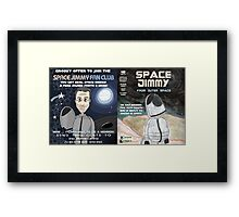 Space Jimmy Significant Mother music video - Comic Book scene Framed Print