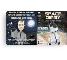 Space Jimmy Significant Mother music video - Comic Book scene Canvas Print