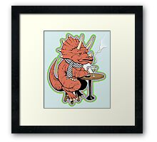 Ty the Triceratops LGBT Dinos! Framed Print