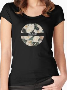 Flower Child Tee Women's Fitted Scoop T-Shirt