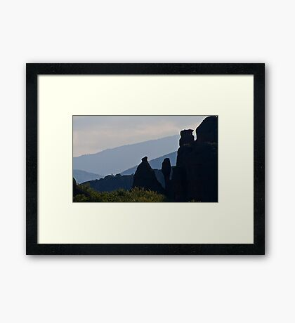 Vertical rocks Framed Print