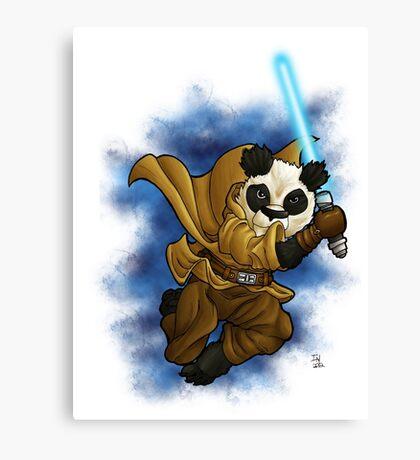 Panda Jedi Canvas Print