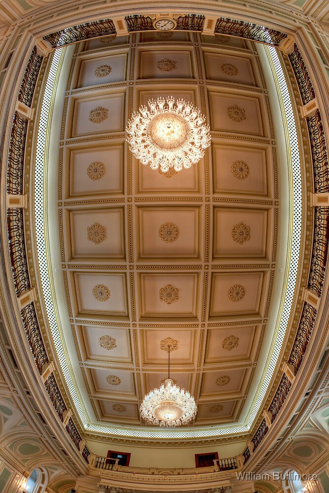 Queensland Parliament Ceiling • Brisbane • Australia by William Bullimore