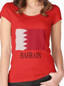 Bahrain flag Women's Fitted Scoop T-Shirt