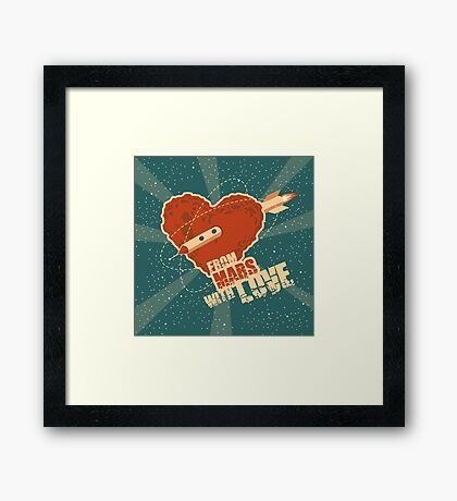 From Mars with love Framed Print