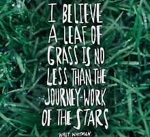 Whitman: Leaf of Grass by Leah Flores