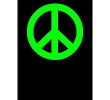 Bright Green Peace Sign Symbol Photographic Print