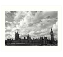 Palace of Westminster - B&W Art Print