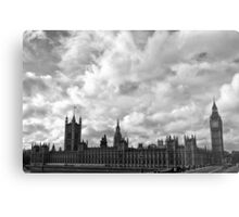 Palace of Westminster - B&W Metal Print