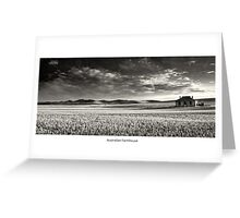 Australian Farmhouse - Mono Greeting Card