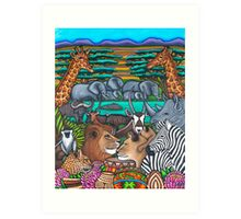 Colours of Africa Art Print