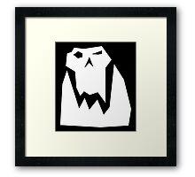 Orc head (White) Framed Print