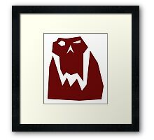 Orc head (Red) Framed Print
