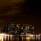 Melbourne Docklands at Night 6554 by Kayla Halleur