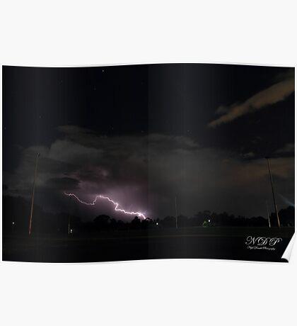 Lightning, Perth Western Australia Poster