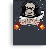 SPACE PUPPY HAZ A ROCKET! Canvas Print