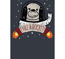 SPACE PUPPY HAZ A ROCKET! Photographic Print