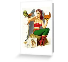Hawkgirl Pin-Up 01 Greeting Card