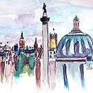 London with Big Ben in watercolor by artshop77