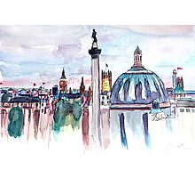 London with Big Ben in watercolor Photographic Print