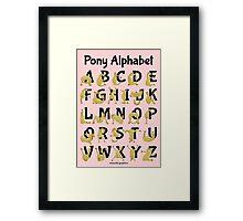 Pony Alphabet, Pink Framed Print