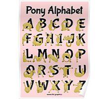 Pony Alphabet, Pink Poster