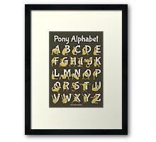 Pony Alphabet, Brown Framed Print