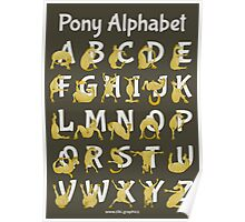 Pony Alphabet, Brown Poster
