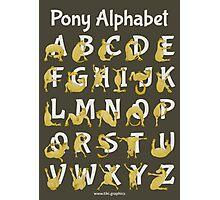 Pony Alphabet, Brown Photographic Print