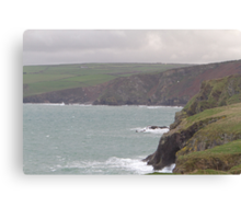 A view from Port Isaac, Cornwall. Canvas Print