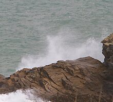 Rough sea in Port Isaac by Keith Larby