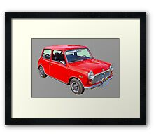 Red Mini Cooper Antique Car Framed Print