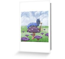 Who Are You? The Caterpillar on Mushroom Greeting Card