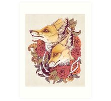Red Fox Bloom Art Print