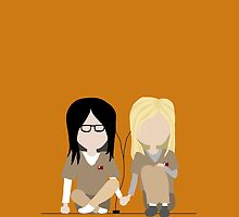 I Heart You - Alex and Piper Stylized Print by morethandust