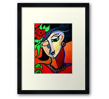 PICASSO THE ROSE Framed Print