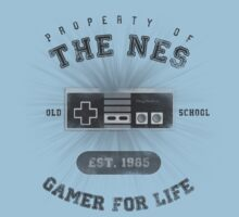 Property of the NES - Athletic Style Shirt - Dark Kids Clothes