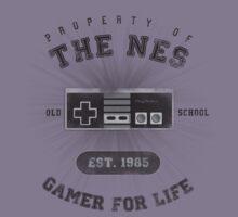 Property of the NES - Athletic Style Shirt - Dark by thehookshot