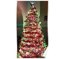 Christmas Tree dressed in green  Poster